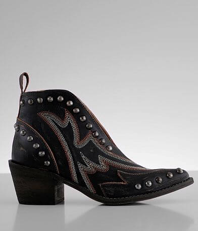 Corral Cut-Out Leather Western Ankle Boot
