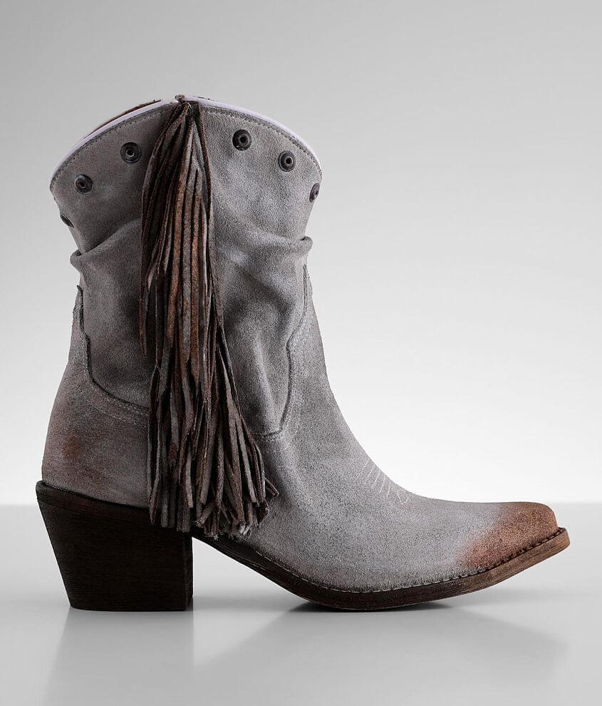 Corral Fringe Leather Western Boot front view