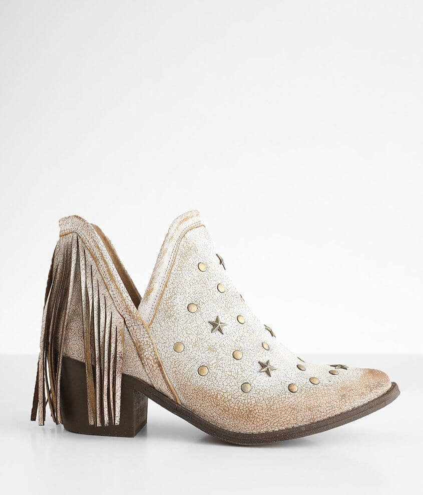 Circle G By Corral Fringe Leather Ankle Boot front view
