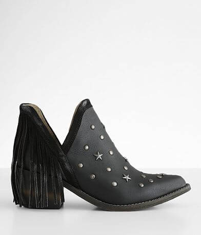 Circle G by Corral Fringe Leather Ankle Boot