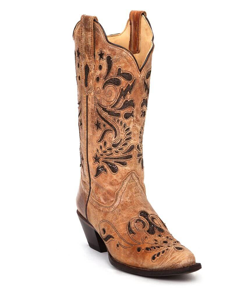 Corral Glitter Inset Cowboy Boot front view