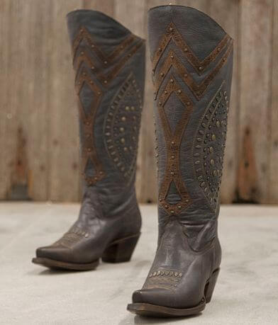 Corral Studded Leather Riding Boot