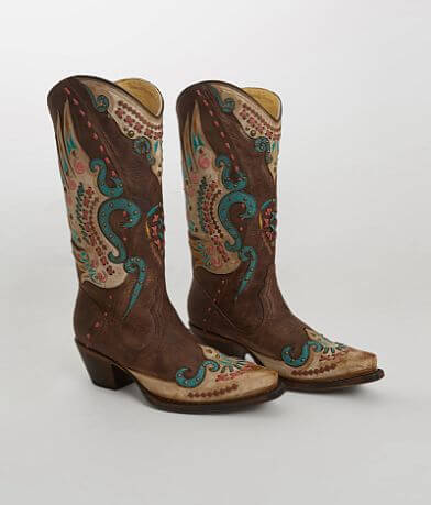 Corral Studded Leather Western Boot