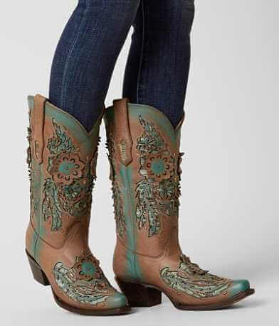 Corral Laser Cut Cowboy Boot