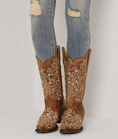 Corral Crystal Leather Western Boot
