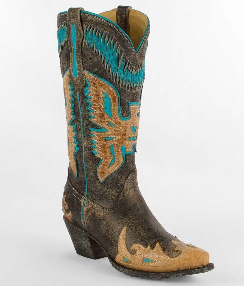 Corral Eagle Applique Cowboy Boot front view