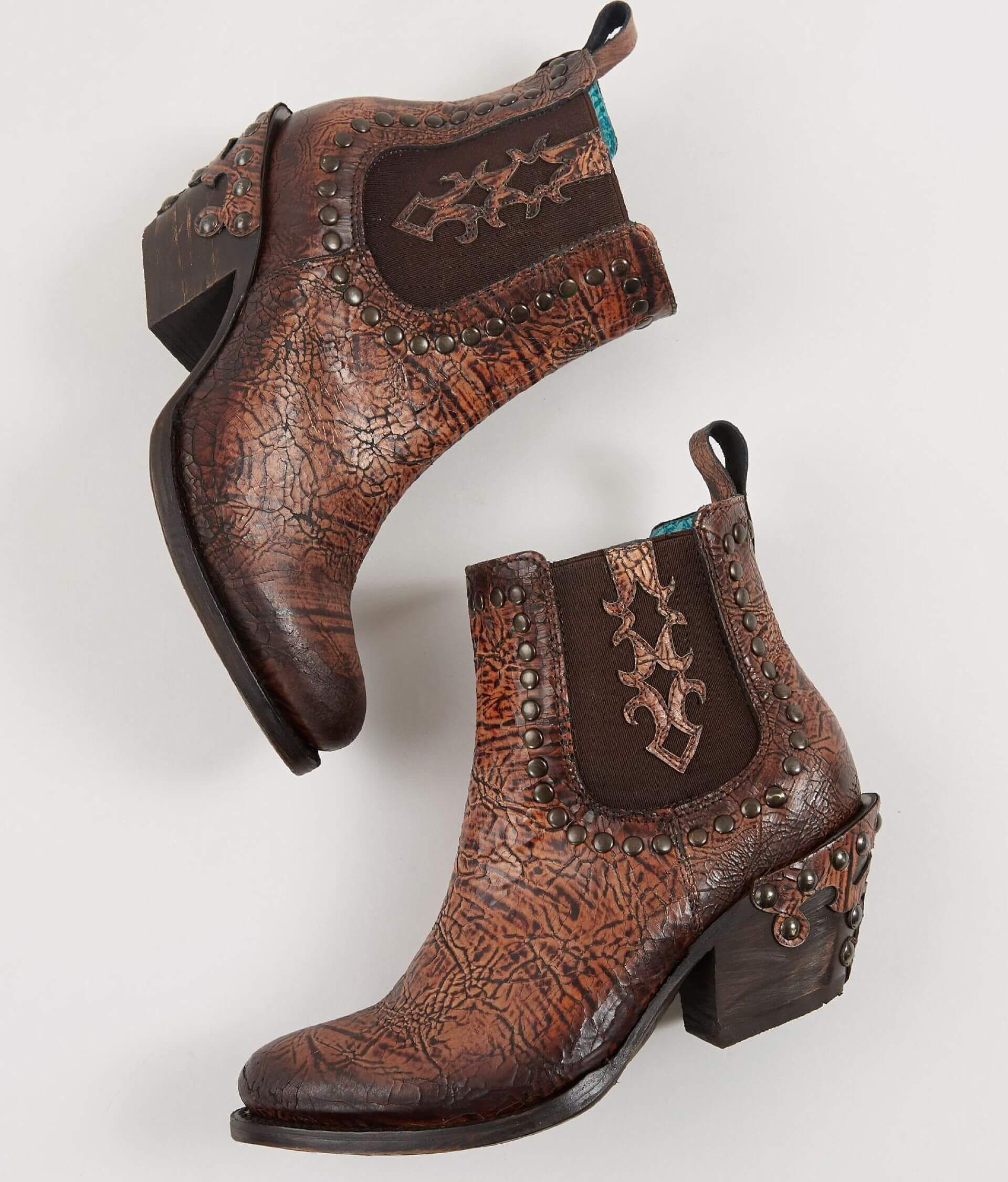 Corral Studded Mule Leather Ankle Boot