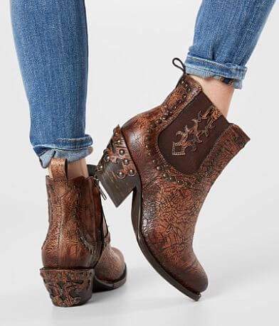 Corral Shedron Studded Leather Ankle Boot