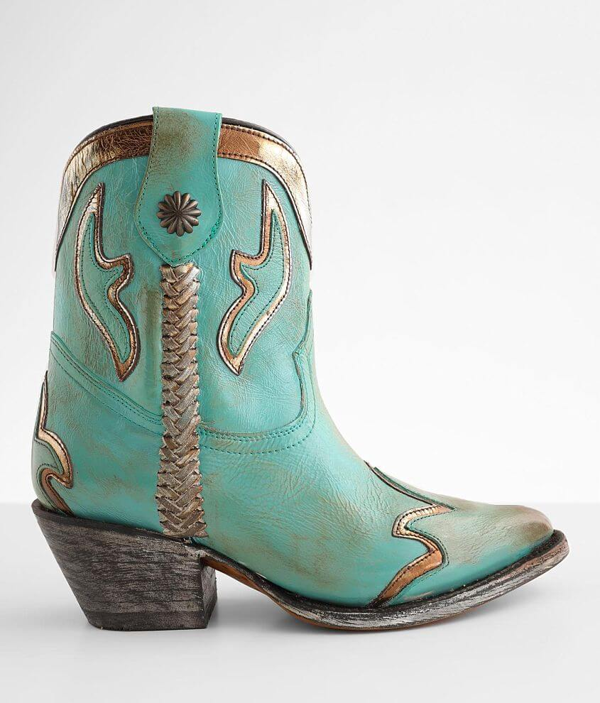Circle G by Corral Turquoise Leather Western Boot front view