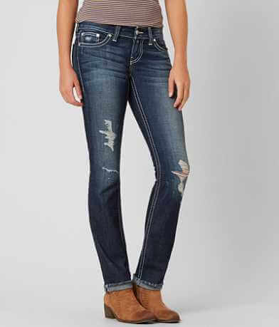 BKE Stella Straight Stretch Cuffed Jean