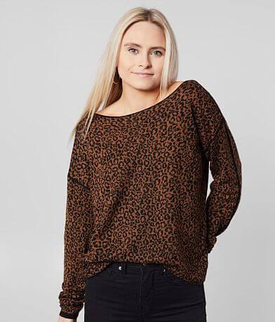 Daytrip Cheetah Print Pullover Sweater