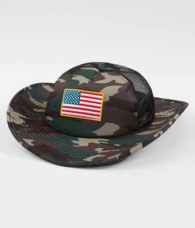 CowbuckerUSA Camo Trucker Hat