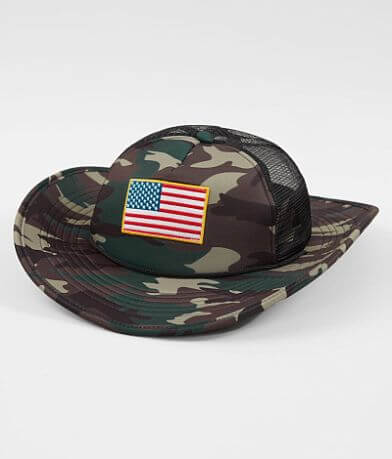 Cowbucker USA Camo Trucker Hat