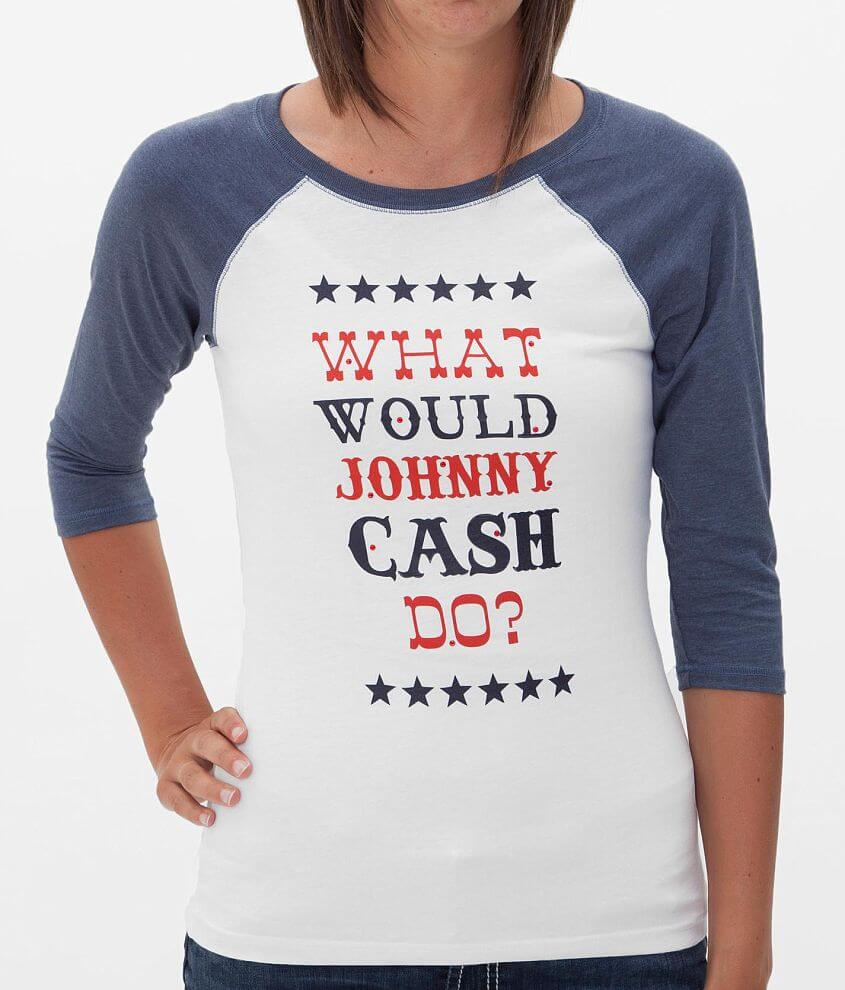 Cowgirl Justice Johnny Cash T-Shirt front view