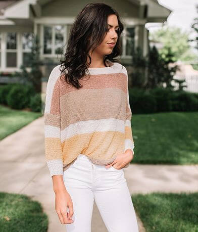 Willow & Root Varigated Stripe Sweater