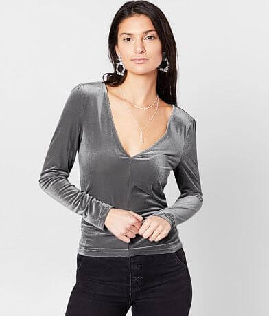 grehy Fitted Velvet Top
