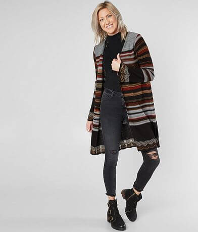 Village Road Striped Cardigan Sweater