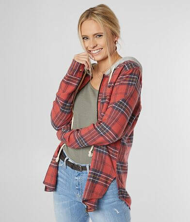 BKE Zip Front Flannel Shirt
