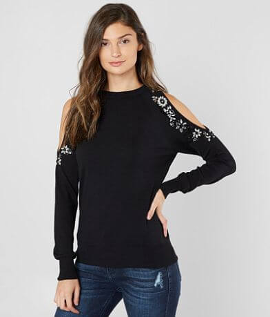BKE Boutique Embellished Knit Sweater