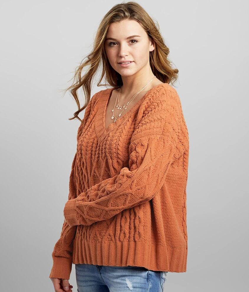 Daytrip Chenille Cable Stitch Sweater front view