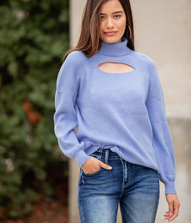 Willow & Root Ribbed Mock Neck Sweater