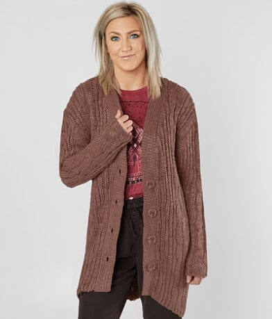 Daytrip Nubby Yarn Cardigan Sweater
