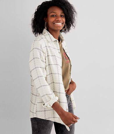 Gilded Intent Plaid Chenille Shirt