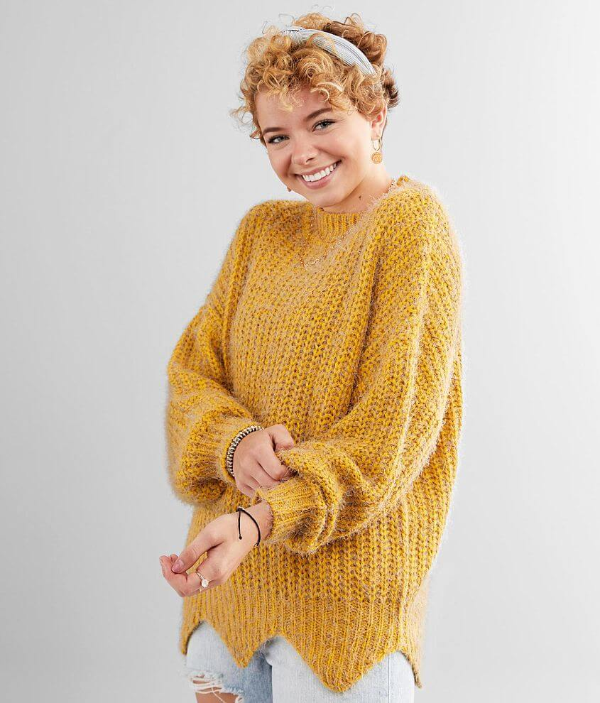 BKE Eyelash Knit Pullover Sweater front view
