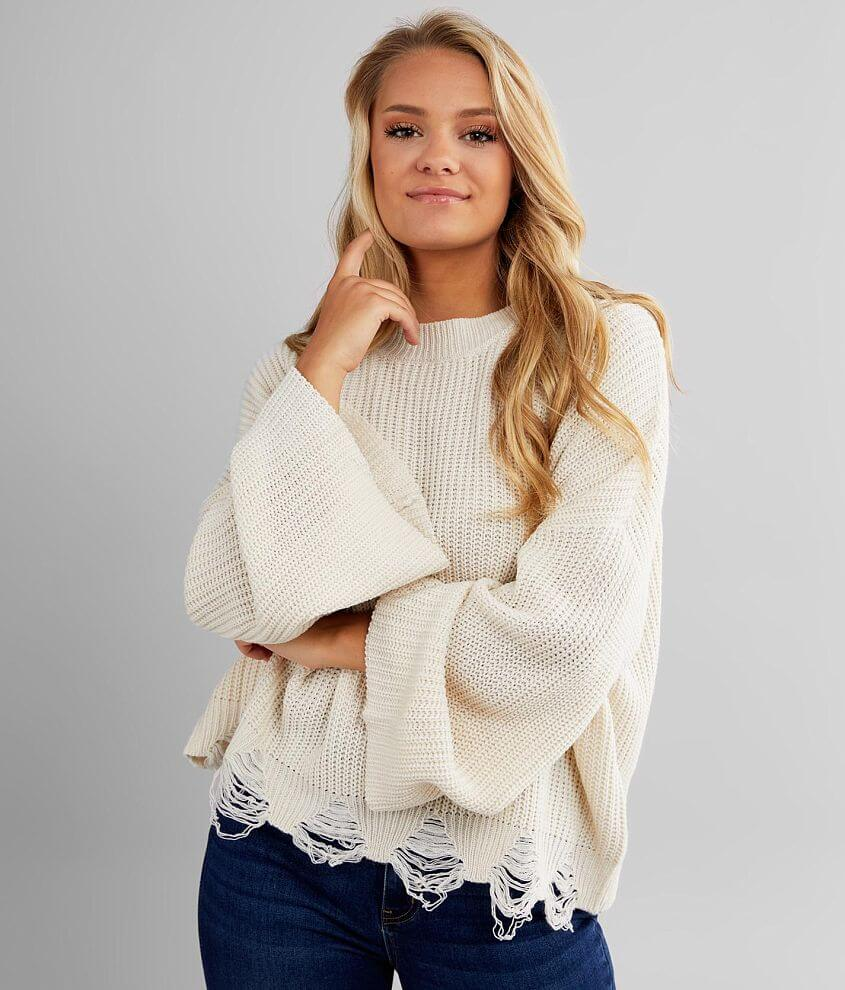 Daytrip Ribbed Pullover Sweater front view