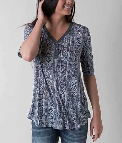 H.I.P. Printed Henley Top