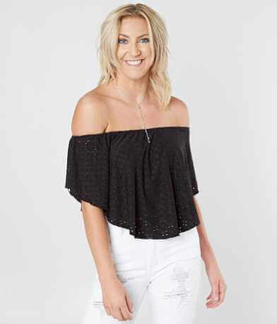 HIATUS Off The Shoulder Cropped Top