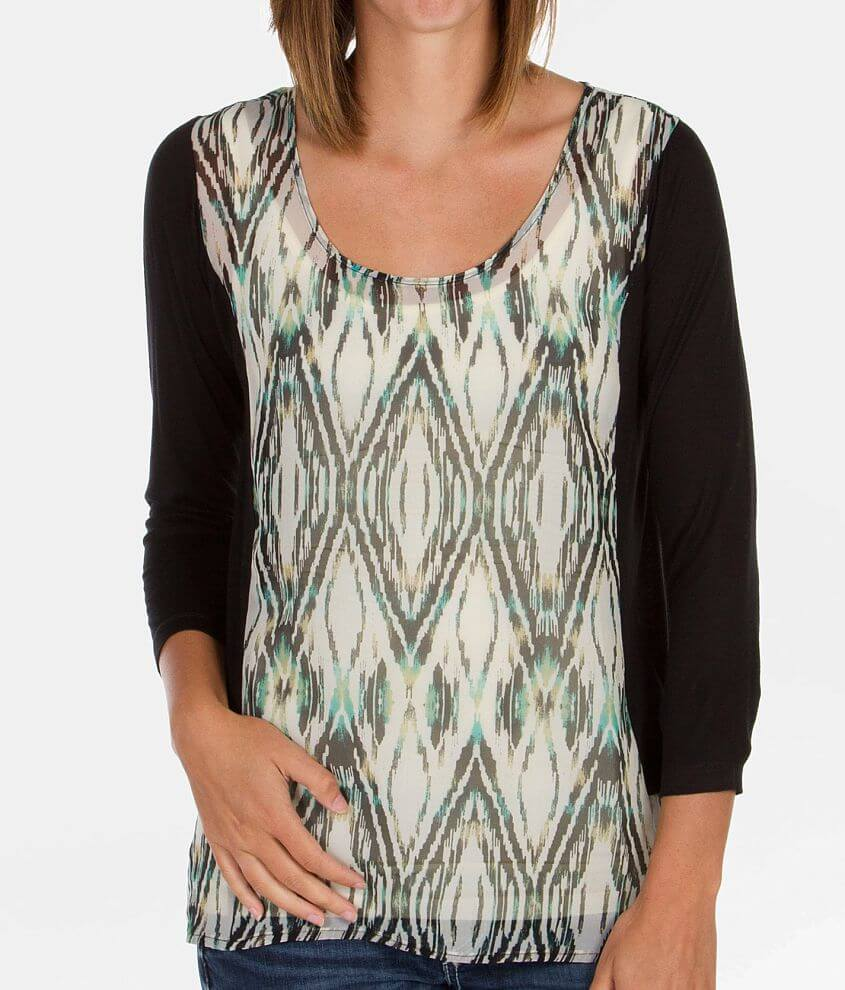 Daytrip Pieced Chiffon Top front view