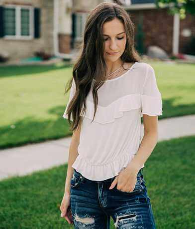 willow & root Ruffle Top