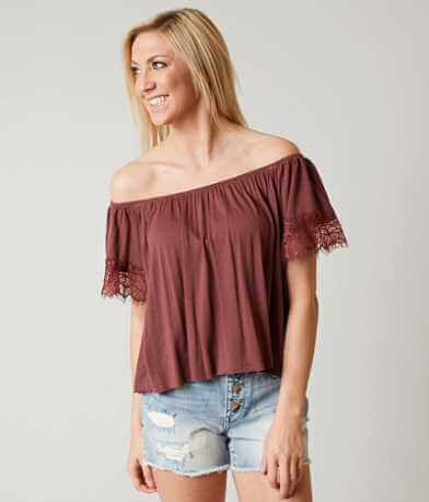 Daytrip Off The Shoulder Cropped Top