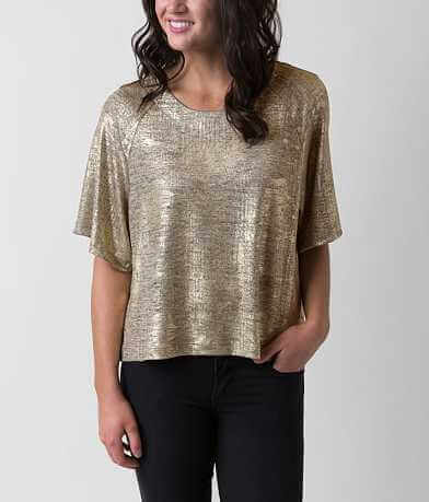 Bobeau Metallic Top