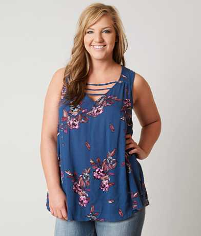 H.I.P. Floral Tank Top - Plus Size Only