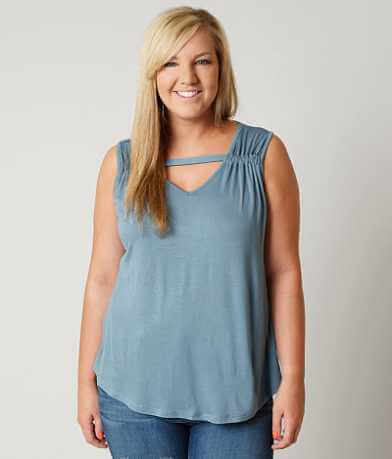 Daytrip Slub Fabric Tank Top - Plus Size Only