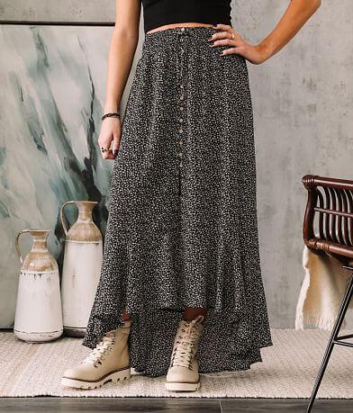 Willow & Root Mini Animal Print Maxi Skirt
