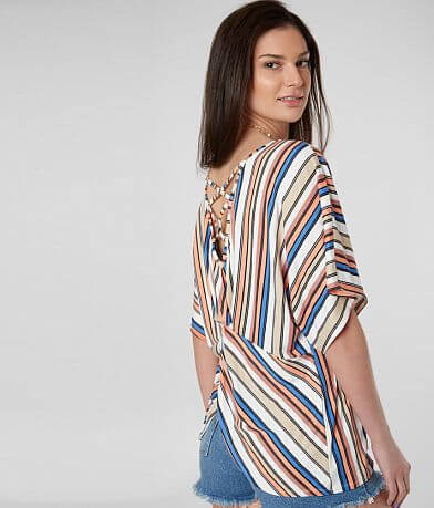 42640fd31fc7 Daytrip Striped Strappy Top