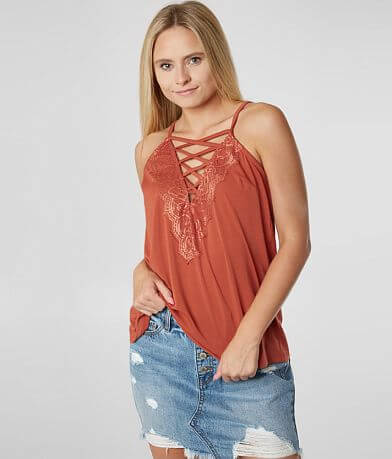 Daytrip Lace-Up Tank Top