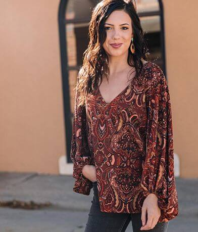 Willow & Root Medallion Blouse