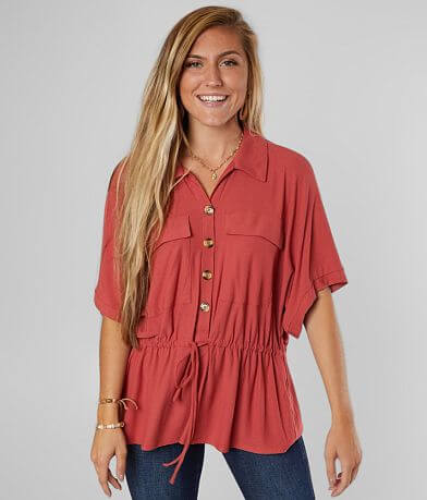 Daytrip Collared Button Down Blouse