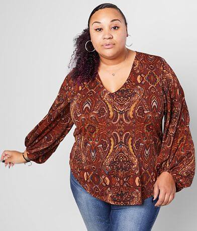 Willow & Root Medallion Top - Plus Size Only