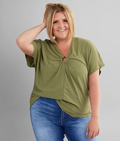 Daytrip Resin Ring Top - Plus Size Only