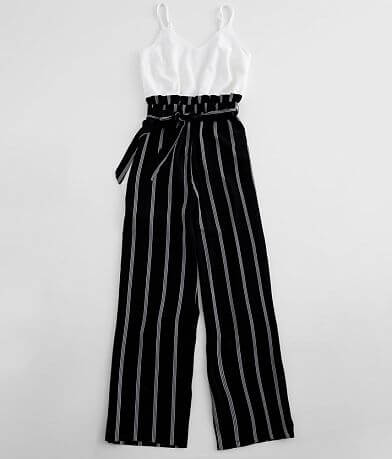 Bailey Blue Striped Paperbag Jumpsuit