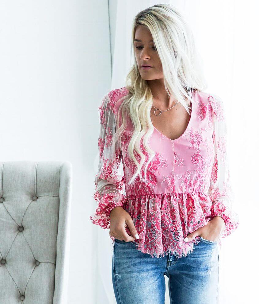c487c6e304996 Willow   Root Eyelash Lace Top - Women s Shirts Blouses in Pink