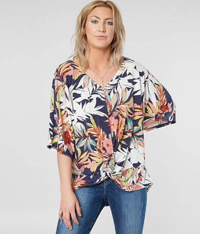 Daytrip Twisted Floral Top