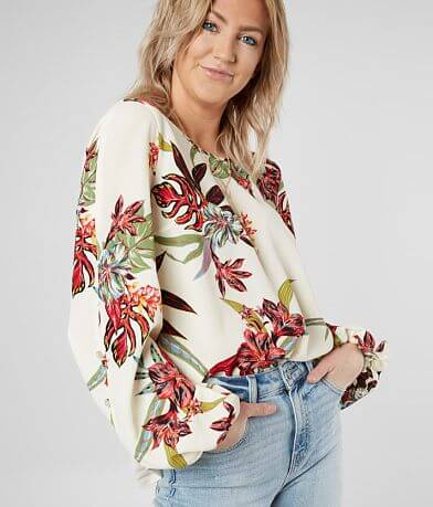 Daytrip Floral Gauze Top