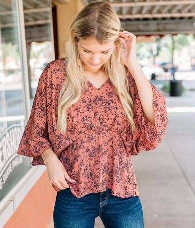Willow & Root Chiffon Empire Waist Top
