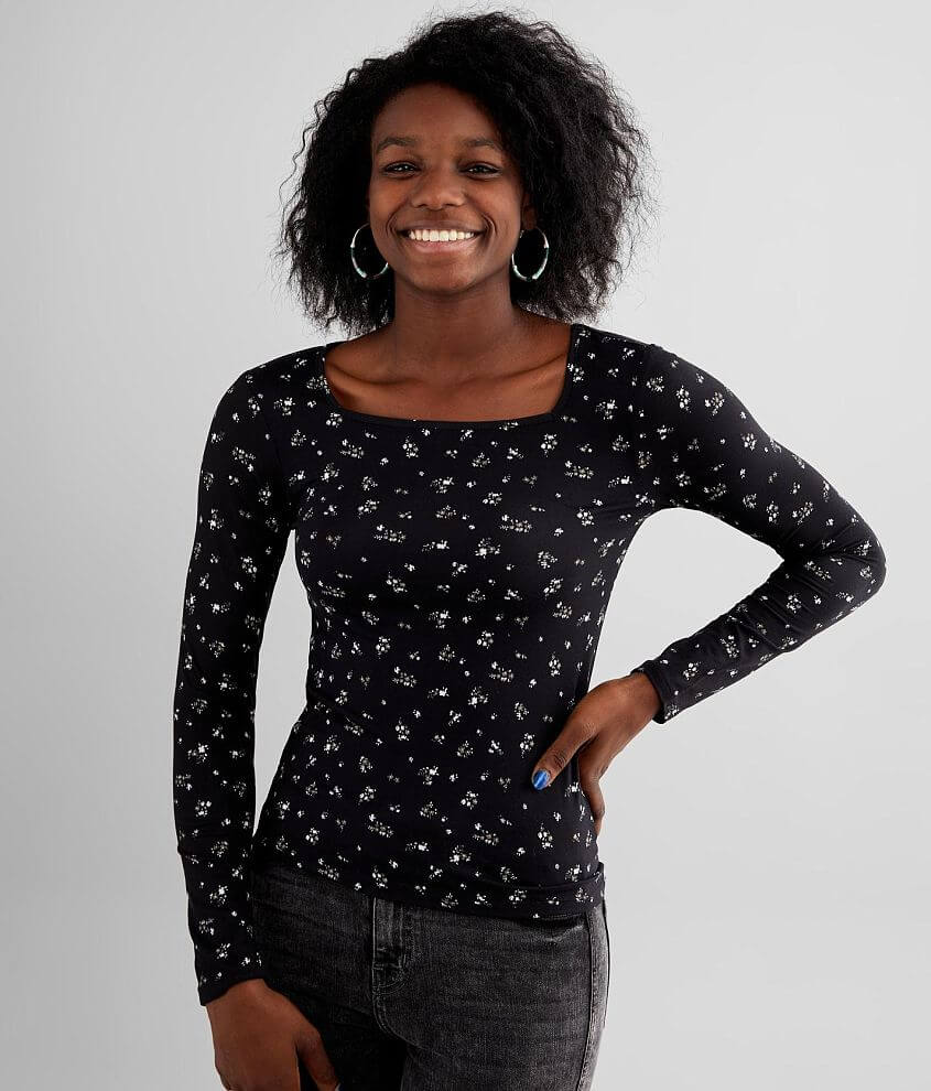 FITZ + EDDI Ditsy Floral Top front view